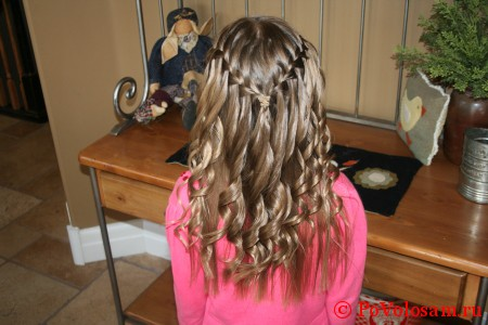 коса водопад с кудрями