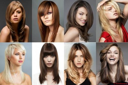 разнообразные прически для густых волос
