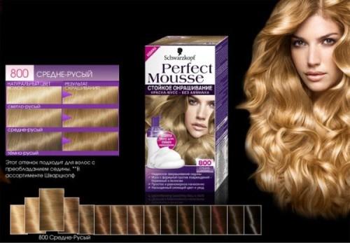 краска мусс для волос шварцкопф perfect mousse