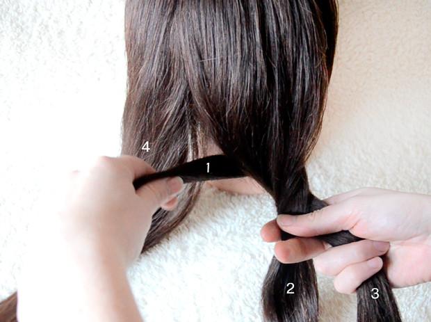 Плетение косы из 4 прядей пошаговая инструкция