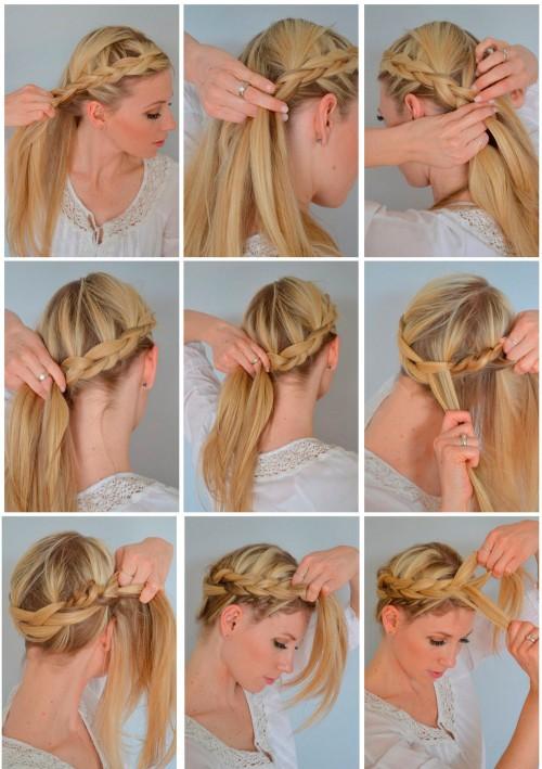 Коса вокруг головы как плести самой себе - Zoolubimets.ru