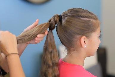 Прически коса из хвостов