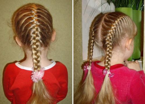 простые прически для девочек в школу: косички