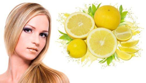 Лимон для осветления прядей