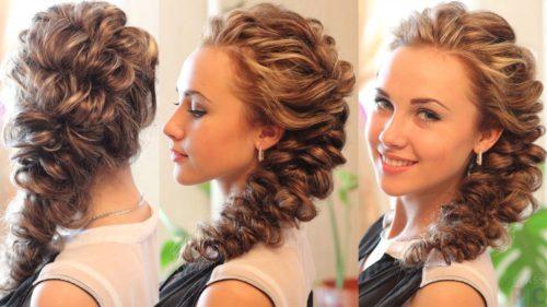 французская коса из резинок на свадьбу