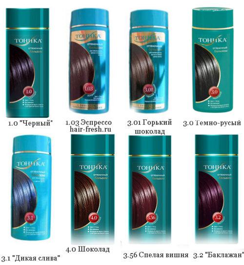 Цвета тоники для волос