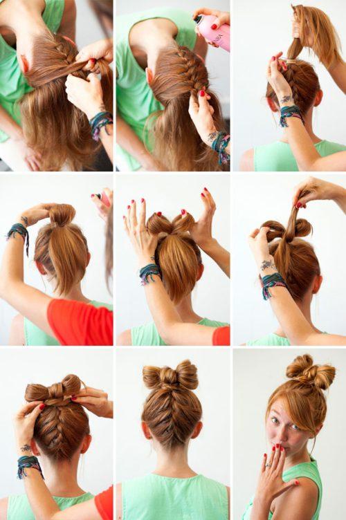 Как сделать бант для волосы своими руками