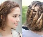 средние волосы с водопадом