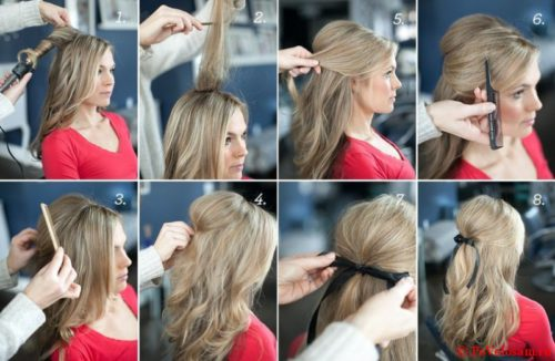 Прическа мальвинка с локонами, начесом: как делать, фото и видео