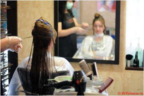 нанесение жидкого кератина на волосы
