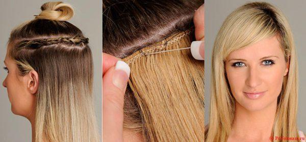 Трессы - накладные волосы на заколках