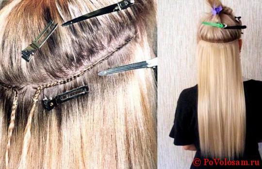 Холодная технология наращивания волос