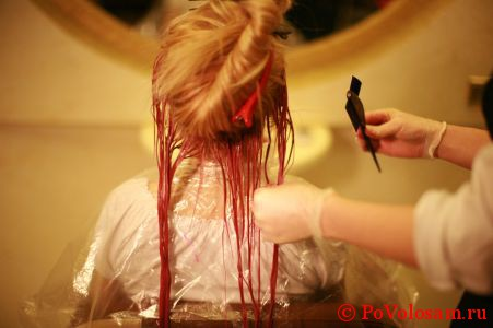 процедура биоламинирования волос с окрашиванием