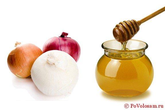 маска мед и лук