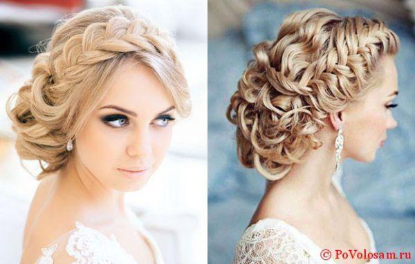 свадебные прически с косами 1
