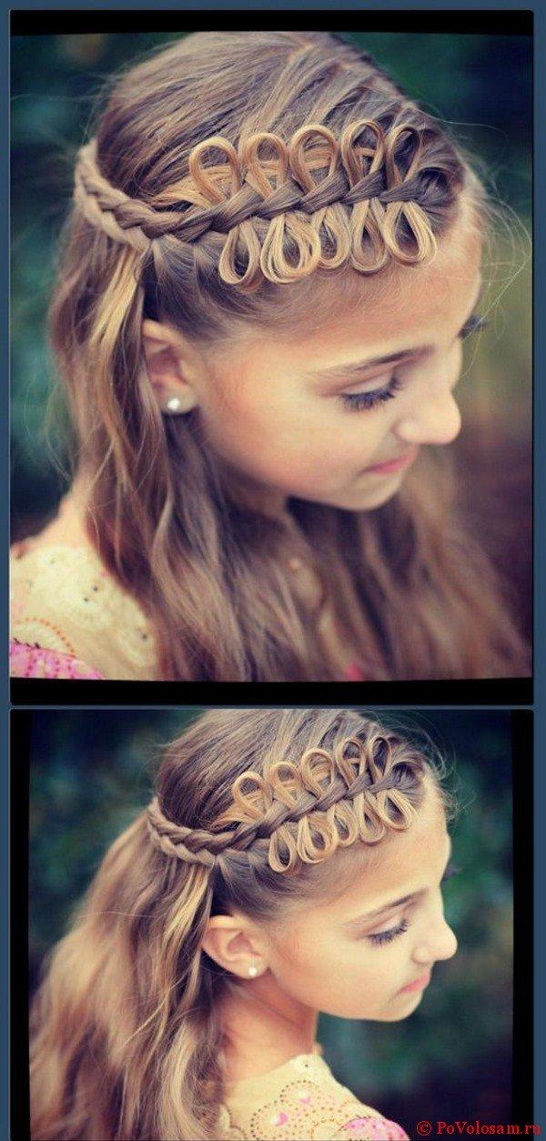 Маленькие бантики из волос