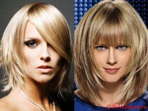 Лесенка на средние волосы 5