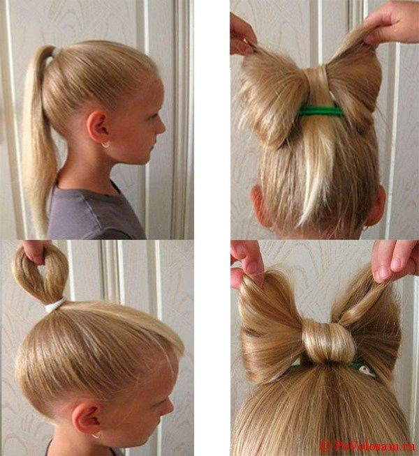 Как сделать бант на волосах?