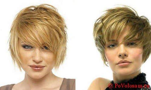 Стрижка лесенка на короткие волосы 4