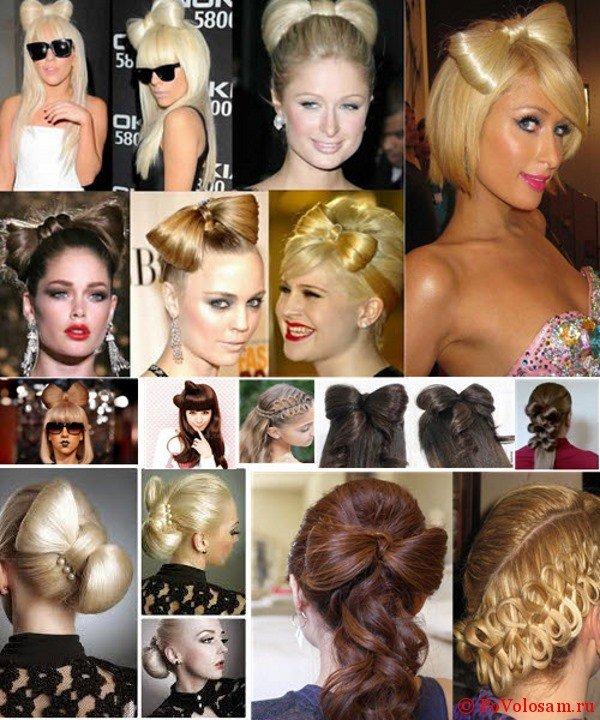 Банты из волос на голове