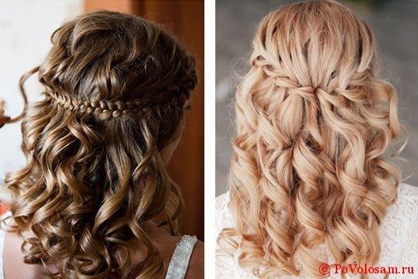 свадебные прически с косами 2
