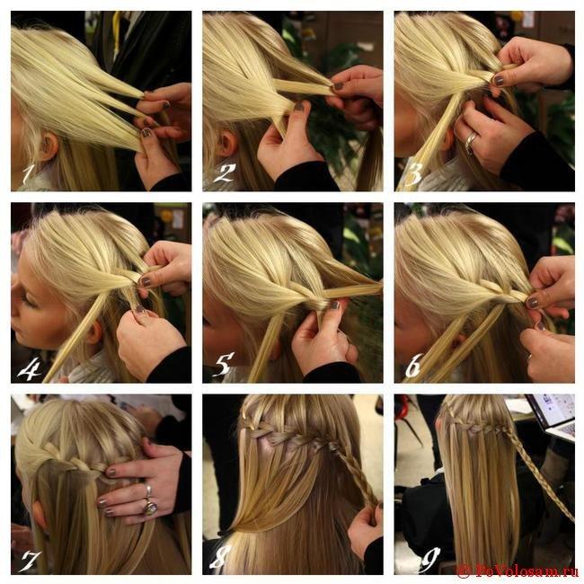Как сделать волосы в косичку
