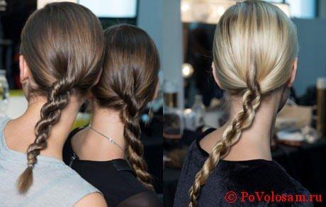 Плетение волос жгутом