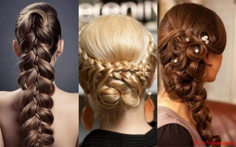 Косы на разных волосах
