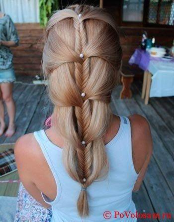 Праздничное плетение кос