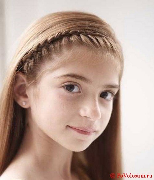 Прически с косами на девочке