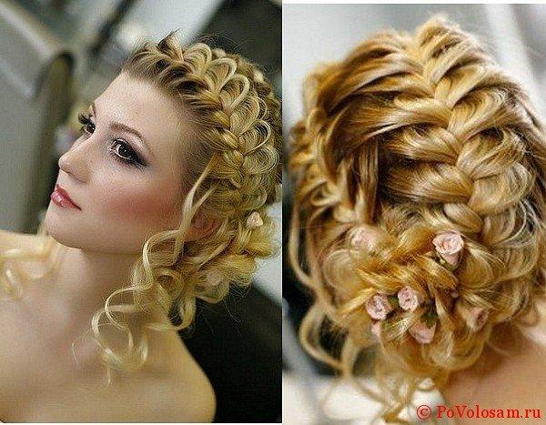Асимметричные косы на голове