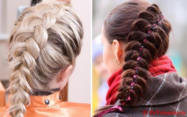 прическа французская коса видео