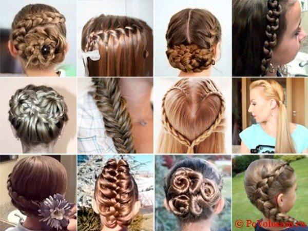 Разнообразие плетений на средние волосы