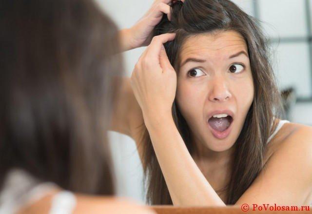 обнаружила седой волос