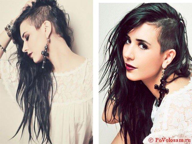 Прическа со сбритыми висками женская на длинные волосы