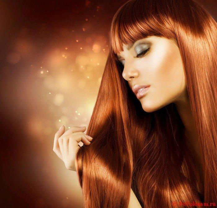 мягкие рыжие волосы