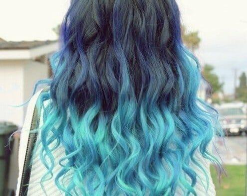 равномерно синие