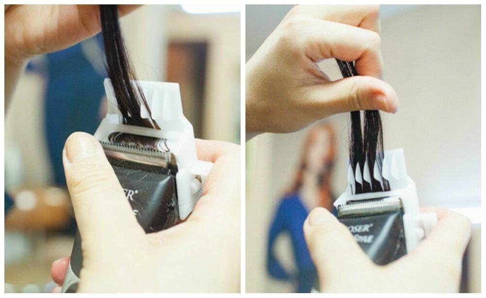 процедура полирования волос