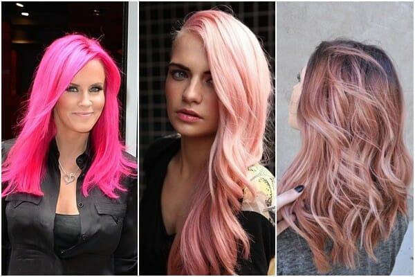 варианты розовых волос