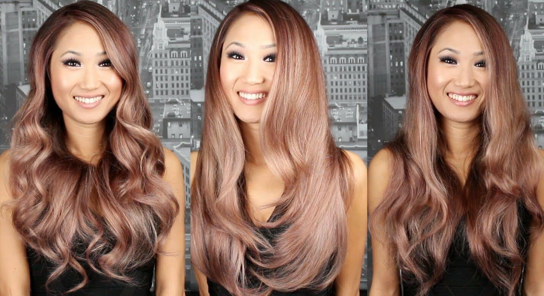 цвет волос розовое золото