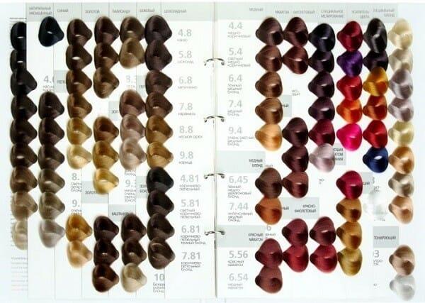 Краска ревлон профессиональная для волос палитра