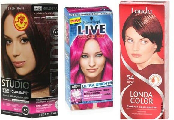 розовые краски для волос